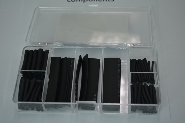 Heat Shrink Black 100 Piece 7 Sizes Kit
