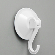 White Suction Cup with Hook