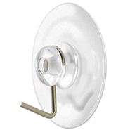 Clear Suction Cup with Metal Hook